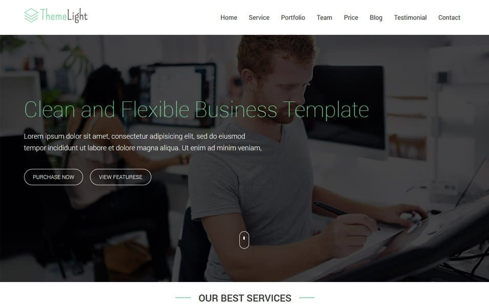 Themelight Bootstrap Business One Page Website Template