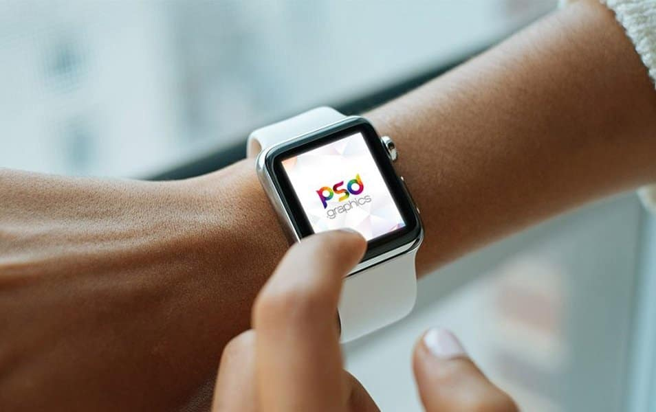 Apple Watch Mockup Free PSD