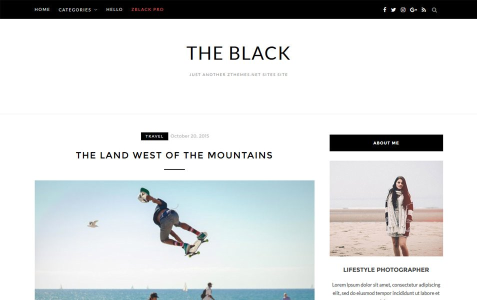 BlackLite Responsive WordPress Theme