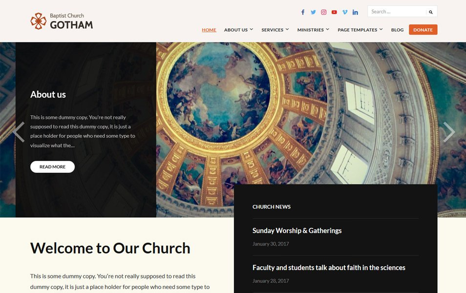Faith Responsive WordPress Theme