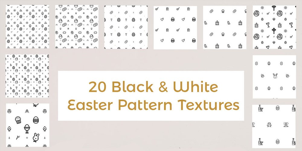 Free-Colorless-Easter-Pattern
