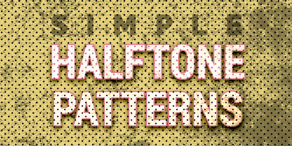 Free Halftone Seamless Patterns