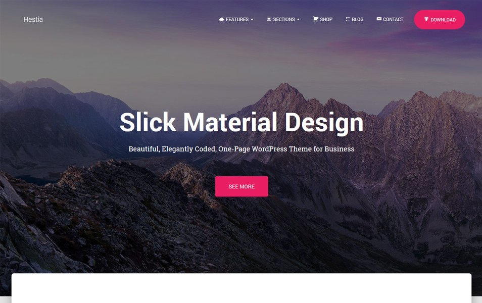 Hestia Responsive WordPress Theme
