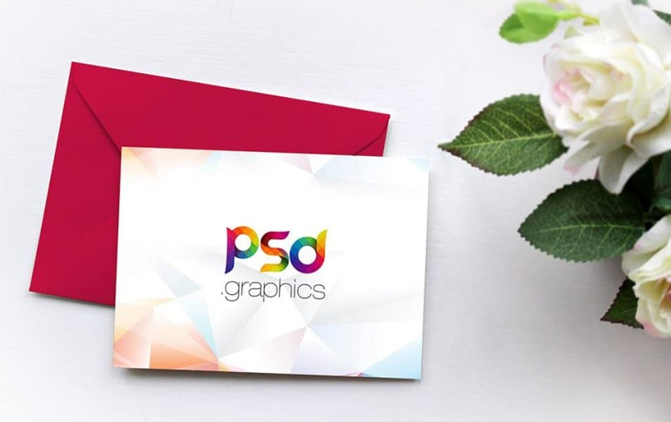 Invitation Card Mockup Free PSD