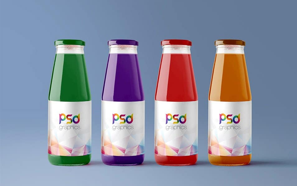 Juice Bottle Mockup Free PSD
