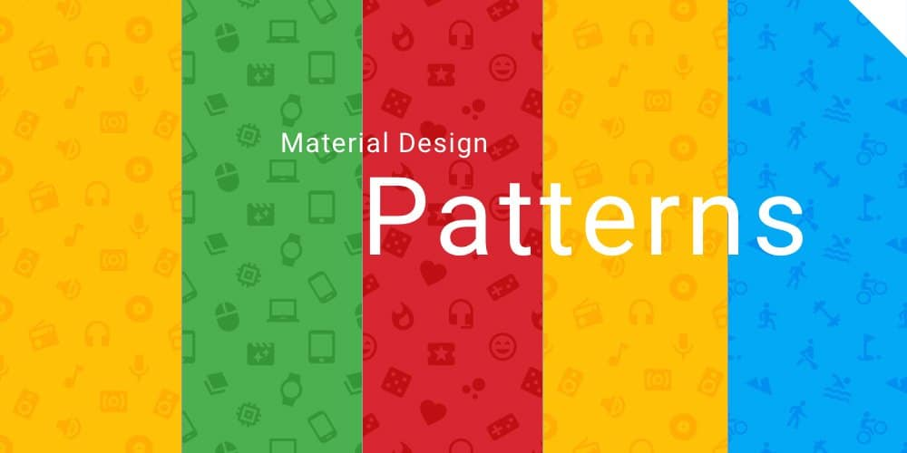 Material Design Icons Patterns