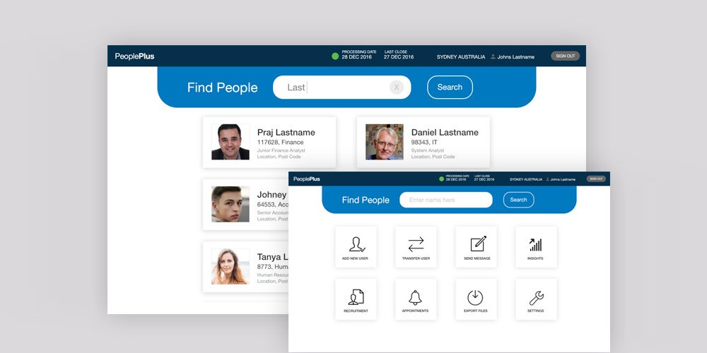 People Plus Web Application Template
