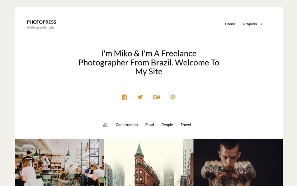 PhotoPress Responsive WordPress Theme