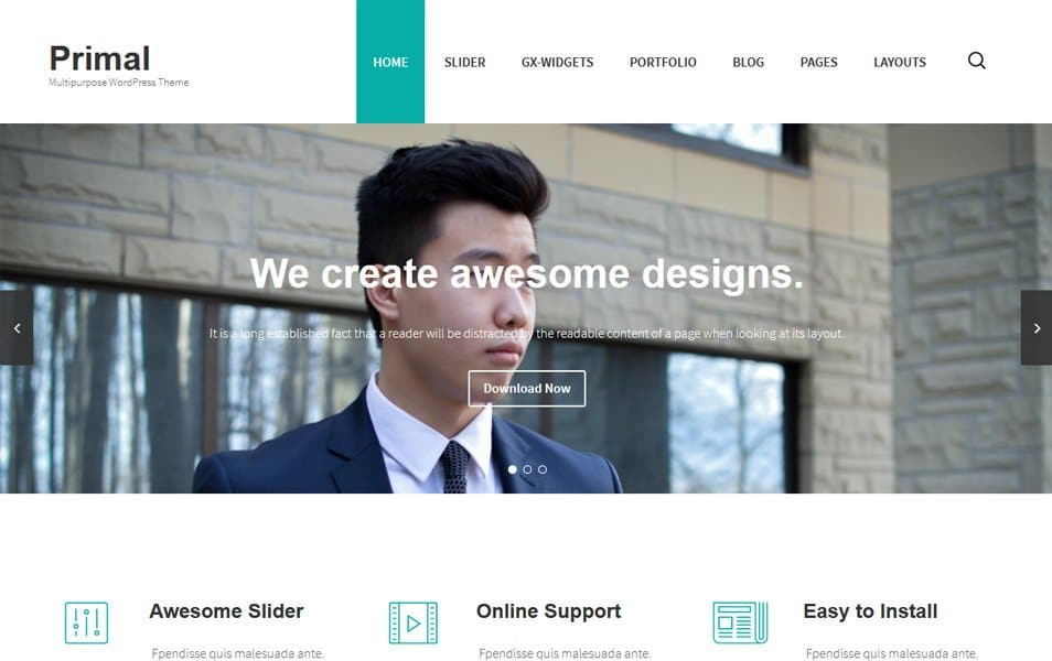 Primal Responsive WordPress Theme