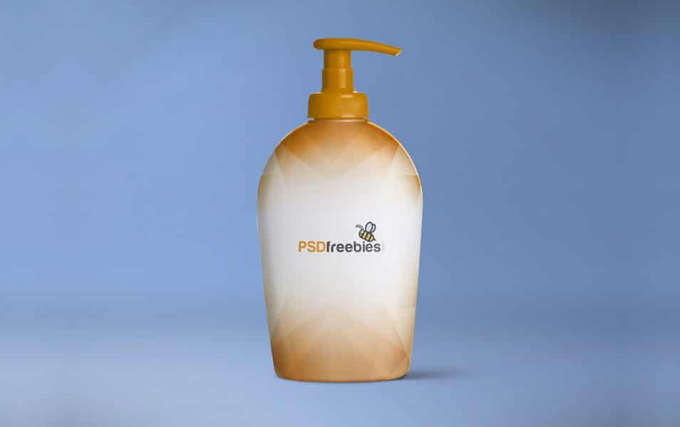 Soap Dispenser Bottle Mockup Free PSD