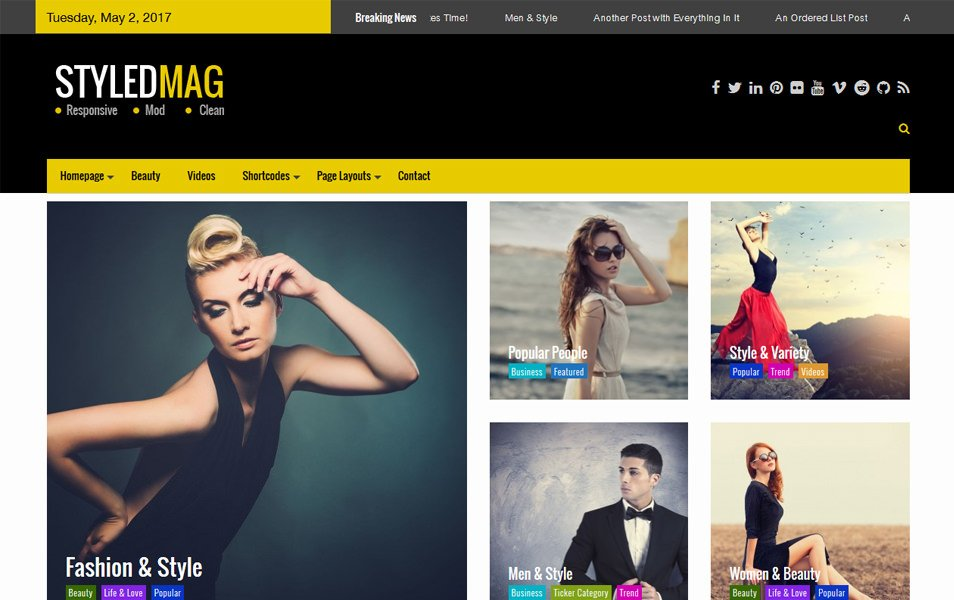 Styled Mag Responsive WordPress Theme