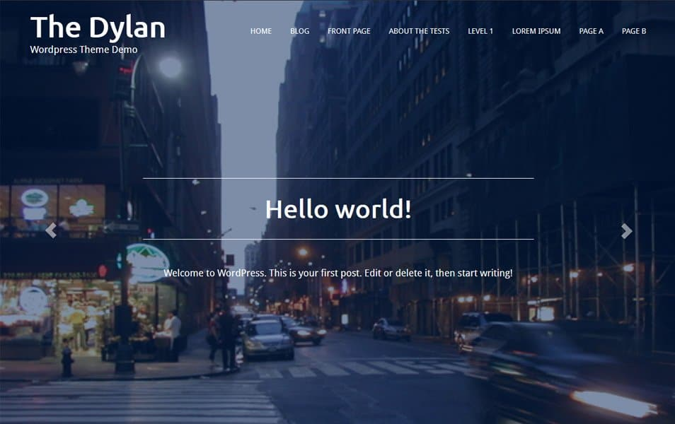 The Dylan Responsive WordPress Theme