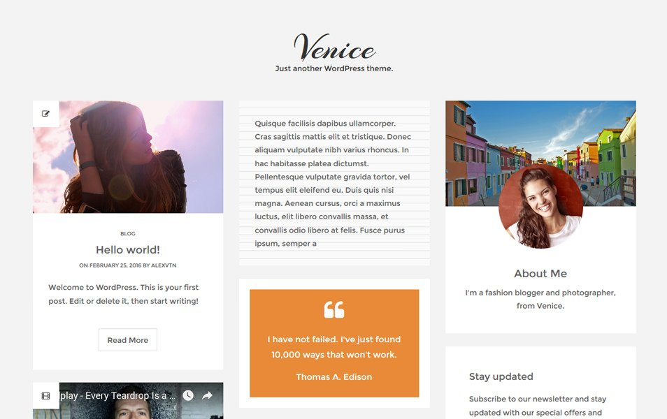 Venice Lite Responsive WordPress Theme