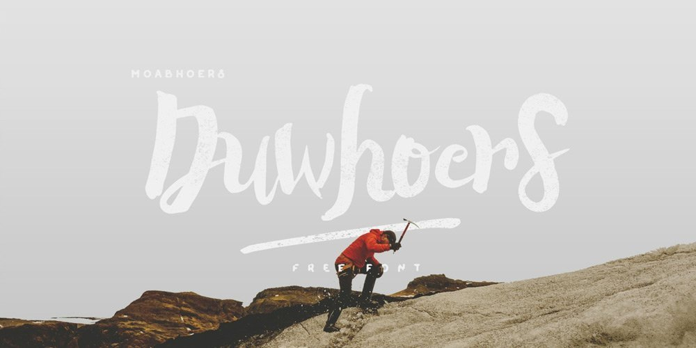 Duwhoers Brush Font