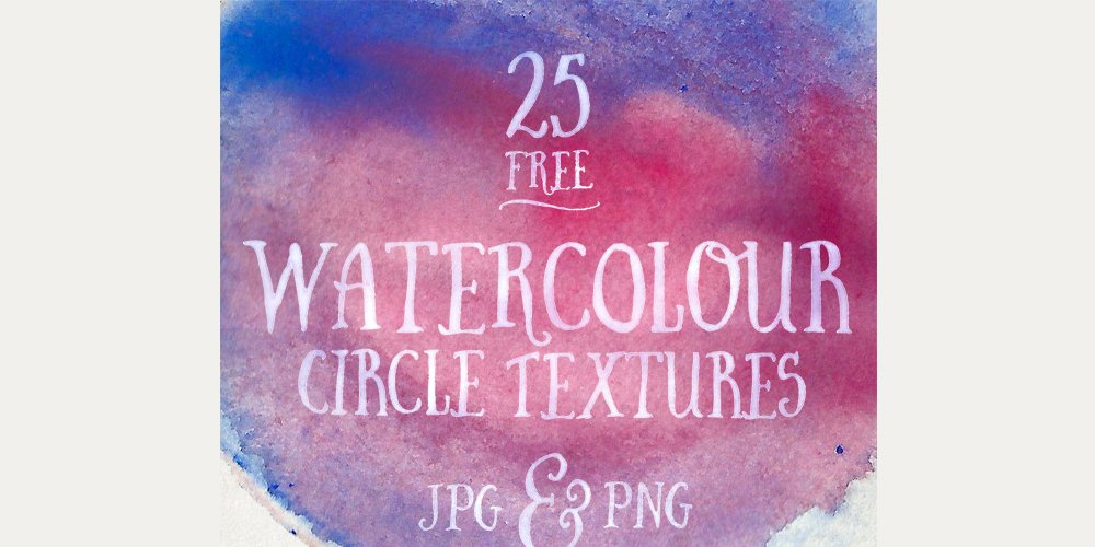 Free Watercolour Circle Textures